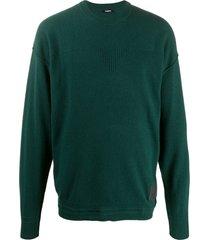 diesel finely textured knit sweatshirt - green