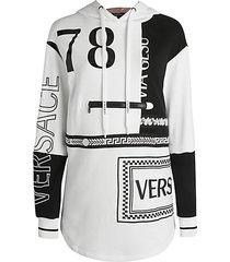 two-tone tunic hoodie