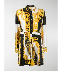 versace baroque-print shirt dress