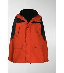 vetements oversized layered coat