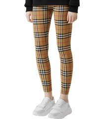 women's burberry belvoir check leggings