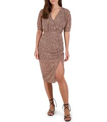 women's bb dakota dusky business floral ruched dress