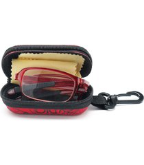 unisex tr90 occhiali da lettura con montatura metallica pieghevoli untra-leggeri con astuccio