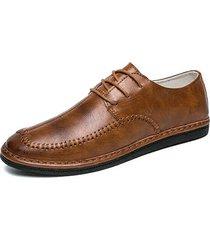 scarpe stringate basse in pelle da uomo british style low top