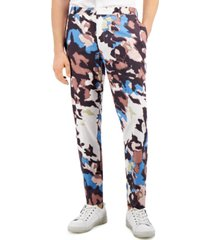 inc international concepts men's watson abstract printed slim fit pants, created for macy's