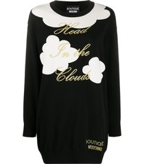 boutique moschino knitted cloud jumper dress - black