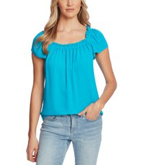 cece gathered-neck short-sleeve top