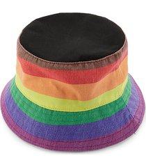 the phluid project gender neutral rainbow bucket hat - rainbow