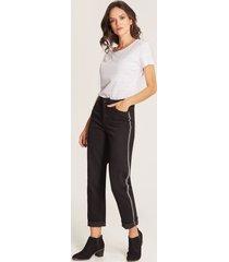 jeans cadenas laterales negro 4