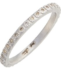 women's armenta new world silver champagne diamond stacking ring