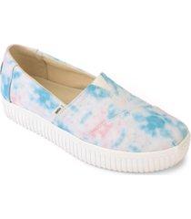 toms women's alpargata indio tie-dyed flats women's shoes