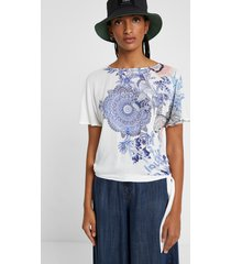 floral print t-shirt - white - s