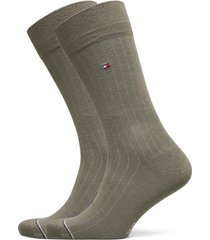 th men sock 2p rib underwear socks regular socks grön tommy hilfiger