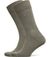 th men sock 2p rib underwear socks regular socks grön tommy hilfiger