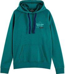 hoodie felpa groen