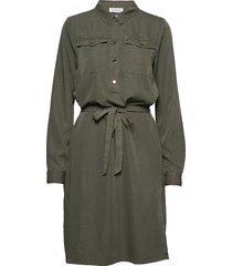 dhfiona dress knälång klänning grön denim hunter