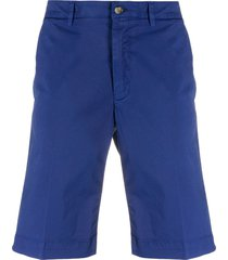 canali fitted bermuda shorts - blue