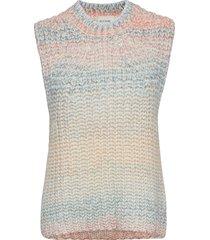 elsa knit vest vests knitted vests blauw second female