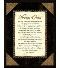 "dexsa broken chain wood frame plaque with easel, 6.5"" x 8.5"""