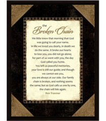 "dexsa broken chain wood frame plaque with easel, 6.5"" x 8.5"""