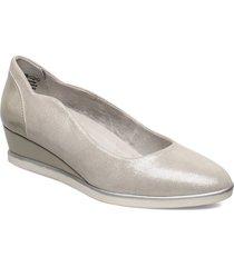 woms court shoe ballerinaskor ballerinas silver tamaris