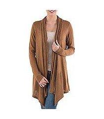 cardigan sweater, 'copper waterfall dream' (peru)