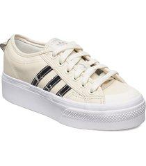 nizza platform w låga sneakers beige adidas originals