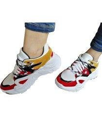 tenis sneakers multicolor murano shoes juanes amarillo
