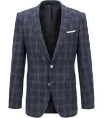 boss men's slim-fit checked blazer