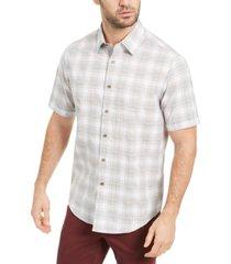 tasso elba men's alcala boulca plaid shirt, created for macy's