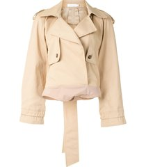 jonathan simkhai trench-style bodysuit - brown
