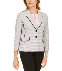 kasper petite tweed two-button blazer