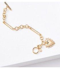 loft heart chain bracelet