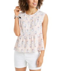 style & co tiered blouse, created for macy's