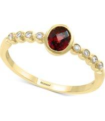 effy blue topaz (3/8 ct. t.w.) & diamond accent ring in 14k gold (also in garnet in 14k gold)