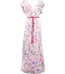 burnout chiffon ruffle gown