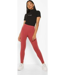soft rib deep waistband leggings, berry