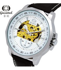 reloj informal de negocios de moda reloj hueco-negro
