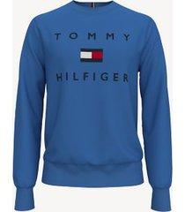 tommy hilfiger men's essential logo sweatshirt palace blue - xxxl