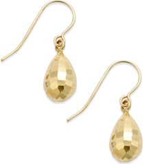 mirrored teardrop earrings in 10k gold