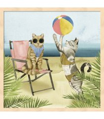 coastal kitties i by grace popp framed art