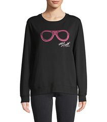 neon sunglasses graphic sweatshirt
