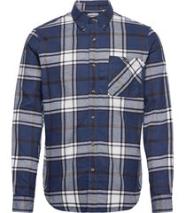 ls heavy flannel check skjorta casual blå timberland