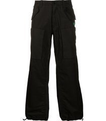 moschino multi-pocket trousers - black