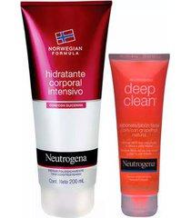 kit 1 sabonete facial deep clean grapefruit - 80g 1 hidratante corporal 200ml