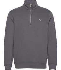 anf mens sweatshirts sweat-shirt tröja grå abercrombie & fitch