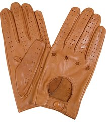 forzieri designer men's gloves, men's tan italian leather driving gloves