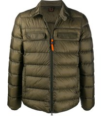 aspesi multi-pocket puffer jacket - green