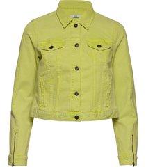 jackets indoor woven jeansjacka denimjacka gul edc by esprit