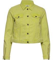 jackets indoor woven jeansjacka denimjacka gul edc by esprit